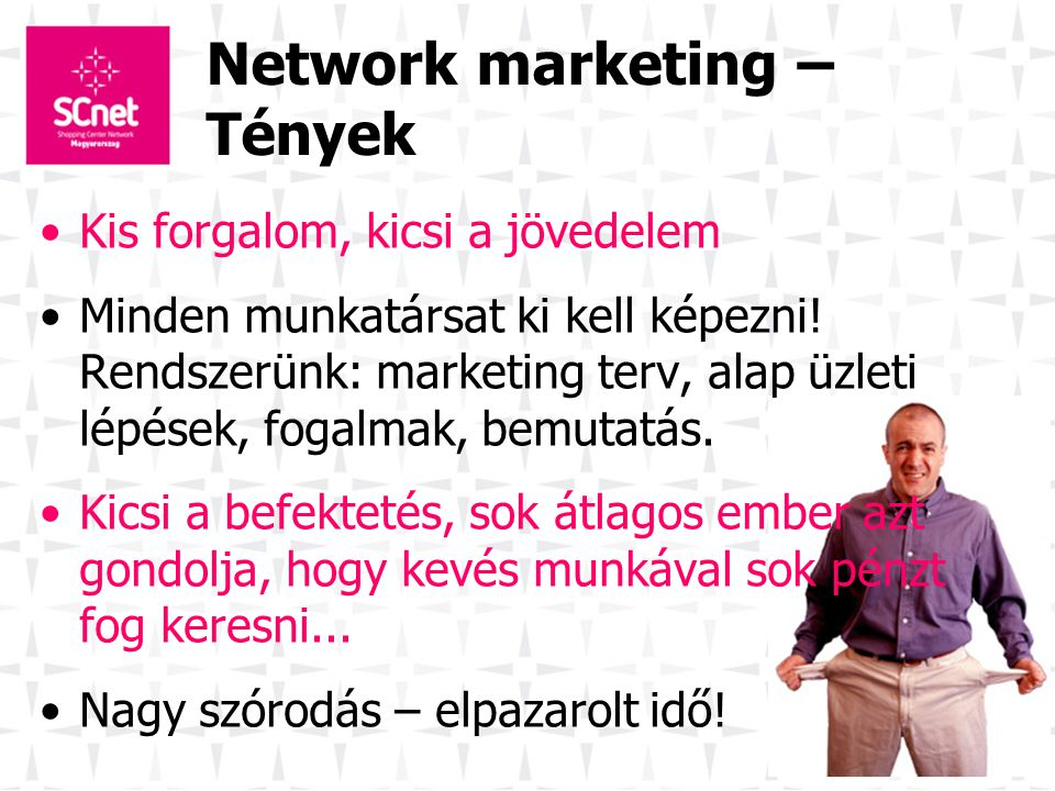Network marketing – Tények