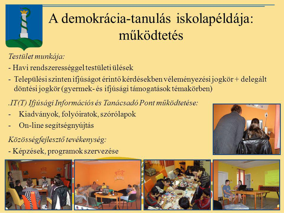 A demokrácia-tanulás iskolapéldája: működtetés