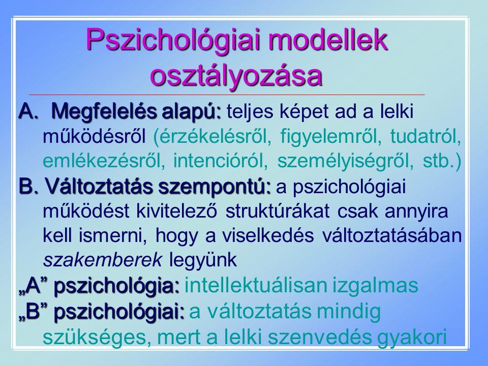 Pszichológiai modellek osztályozása
