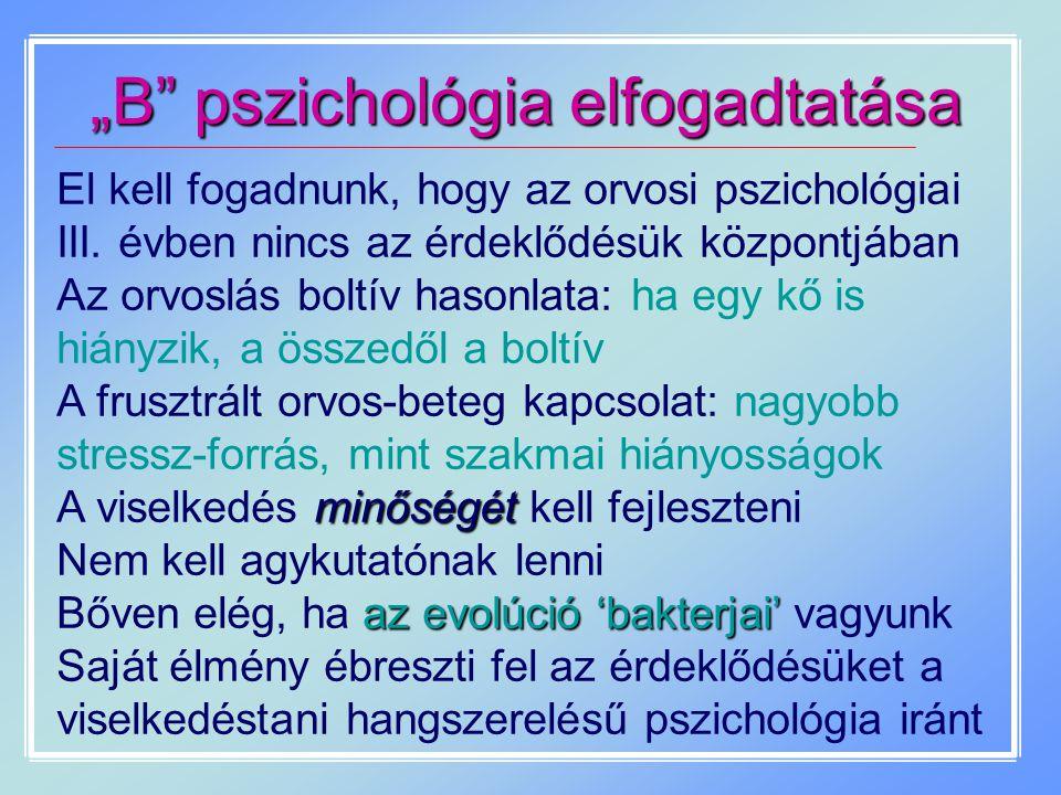 """""""B pszichológia elfogadtatása"""