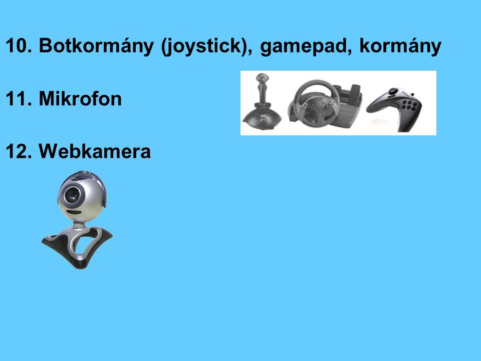 10. Botkormány (joystick), gamepad, kormány