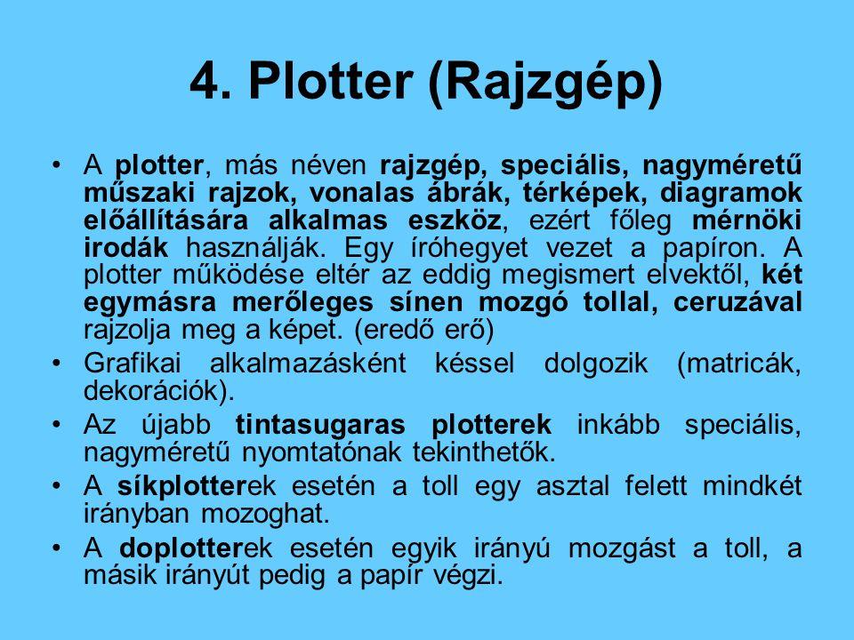 4. Plotter (Rajzgép)