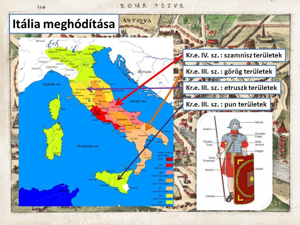 Itália meghódítása Kr.e. IV. sz. : szamnisz területek