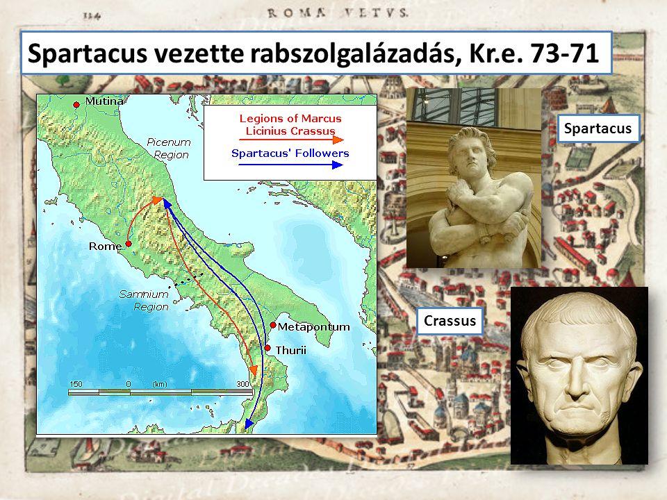 Spartacus vezette rabszolgalázadás, Kr.e. 73-71