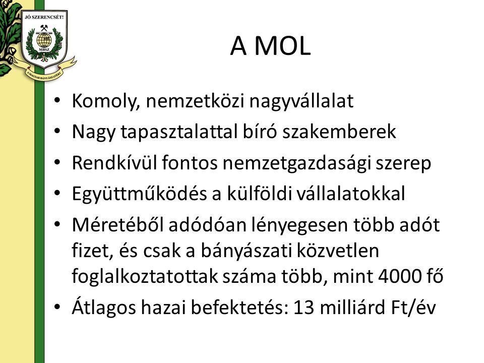 A MOL Komoly, nemzetközi nagyvállalat