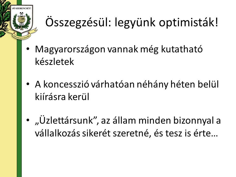 Összegzésül: legyünk optimisták!