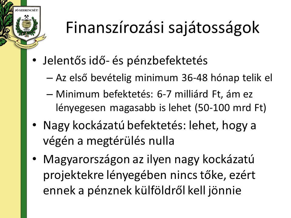Finanszírozási sajátosságok