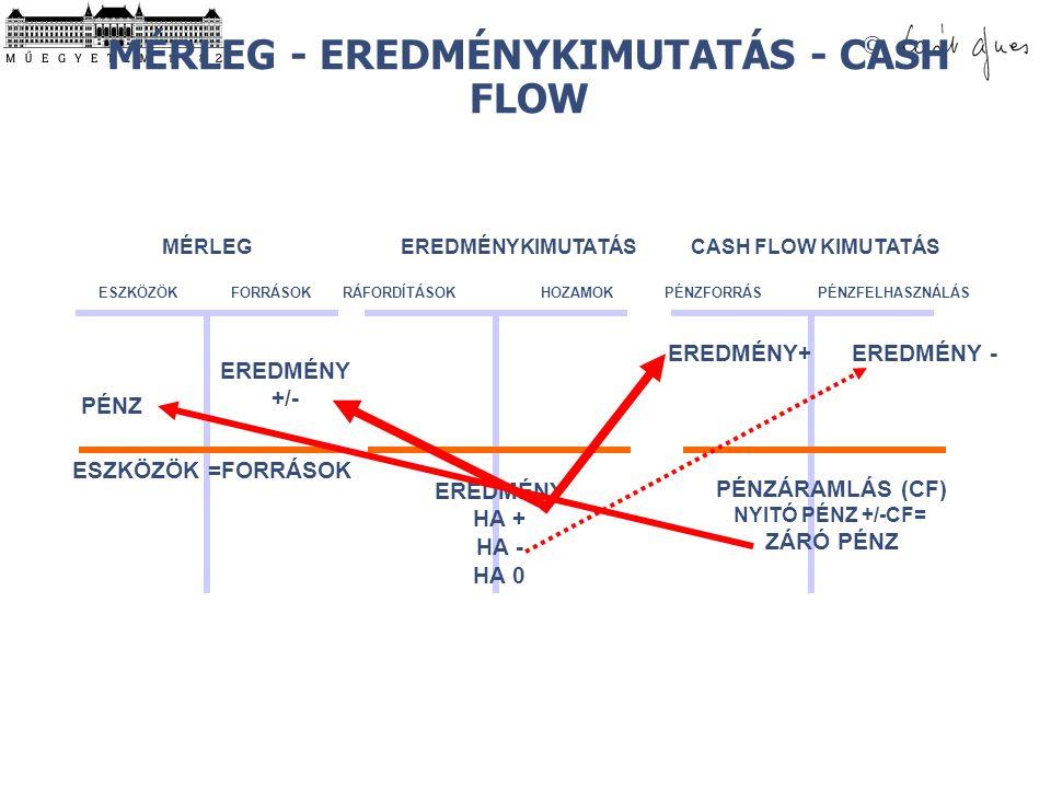 MÉRLEG - EREDMÉNYKIMUTATÁS - CASH FLOW