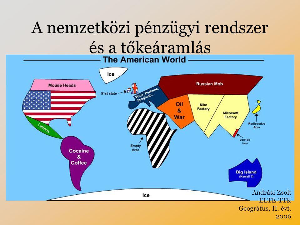 A nemzetközi pénzügyi rendszer és a tőkeáramlás