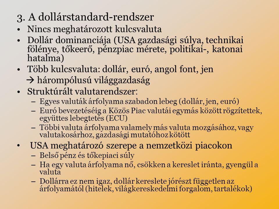 3. A dollárstandard-rendszer