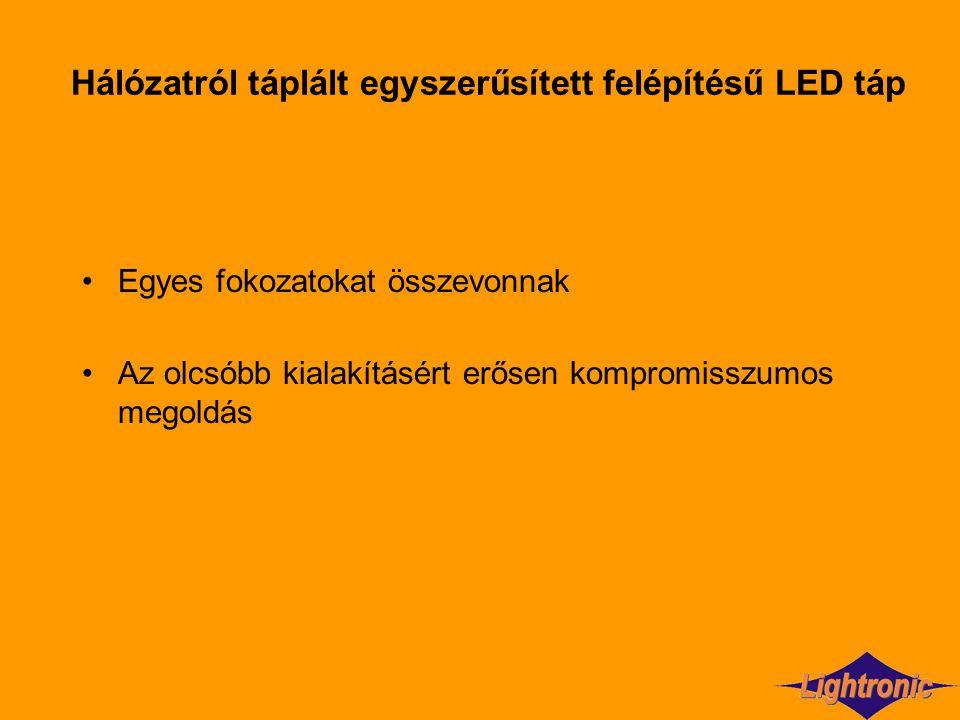 Hálózatról táplált egyszerűsített felépítésű LED táp