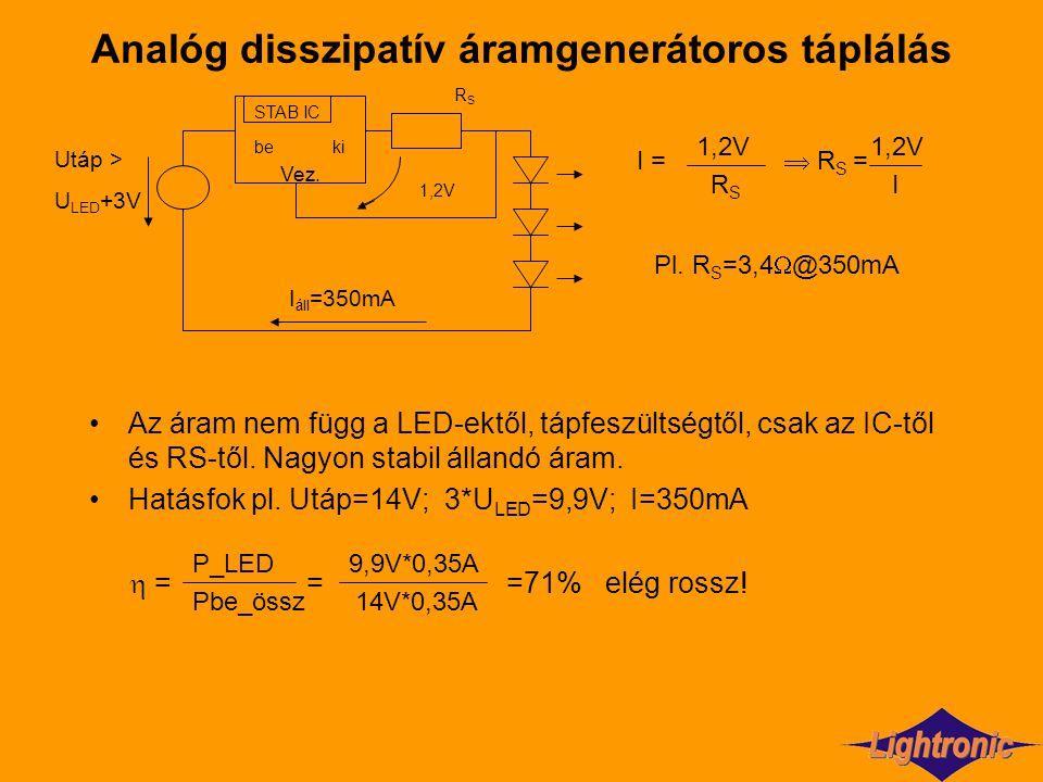 Analóg disszipatív áramgenerátoros táplálás