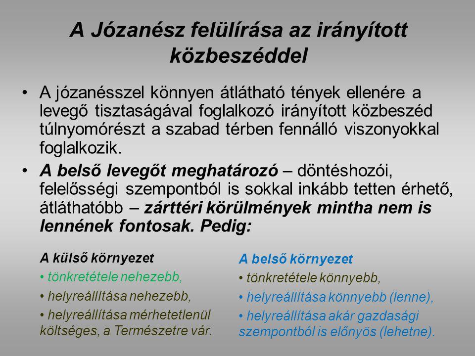 A Józanész felülírása az irányított közbeszéddel