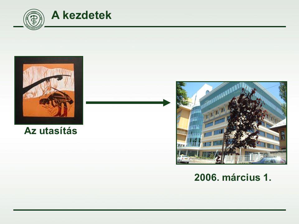 A kezdetek Az utasítás 2006. március 1.