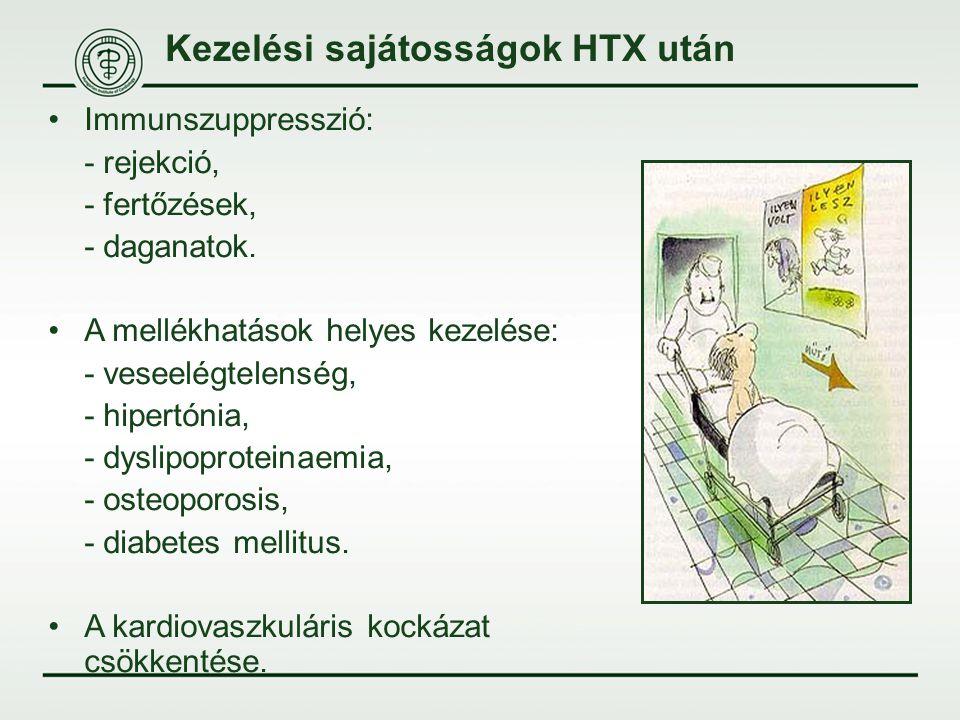 Kezelési sajátosságok HTX után