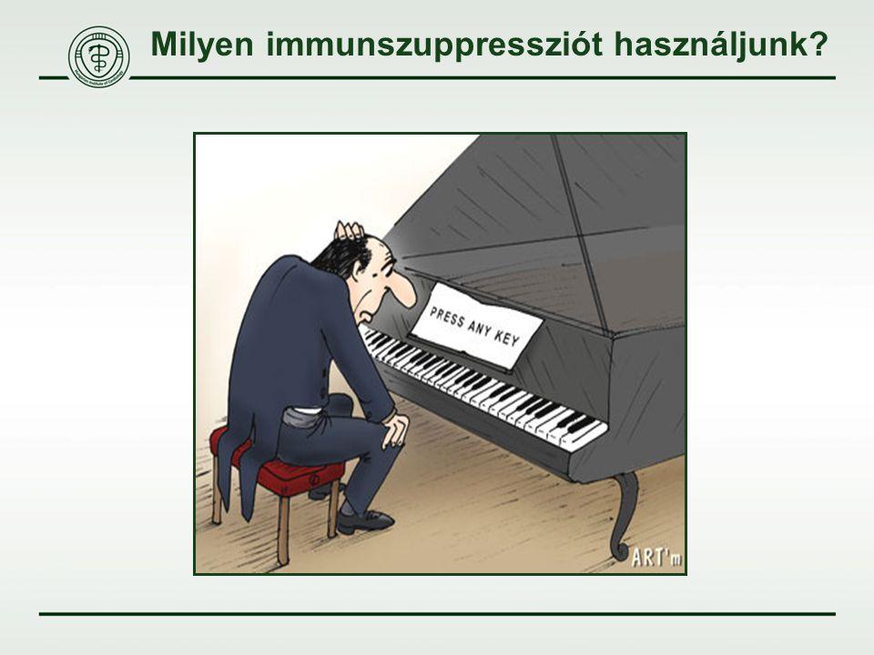Milyen immunszuppressziót használjunk