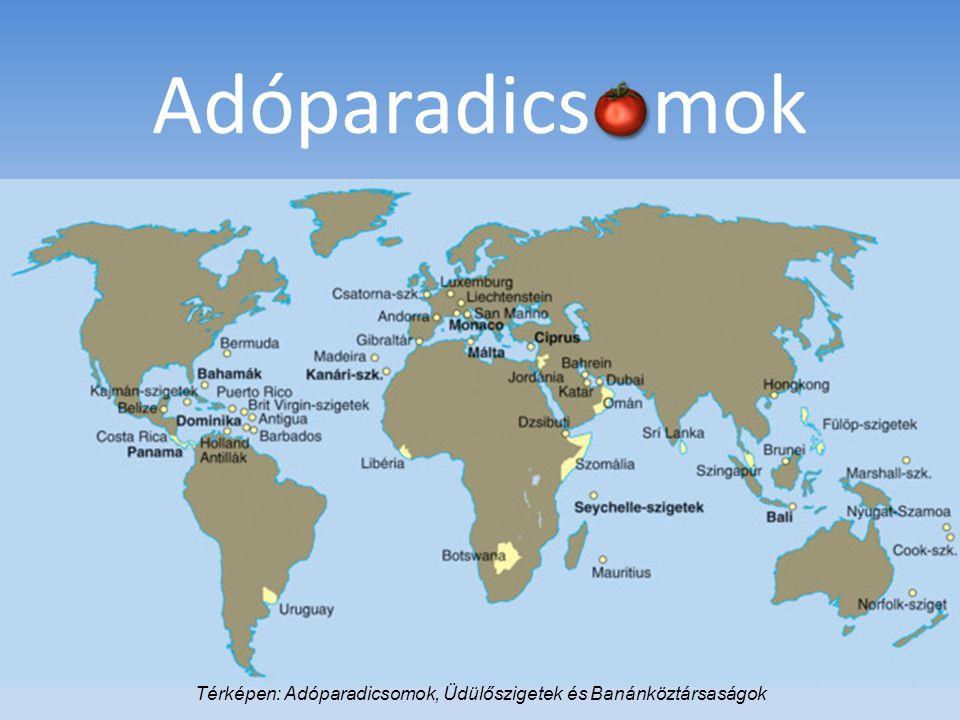 Térképen: Adóparadicsomok, Üdülőszigetek és Banánköztársaságok