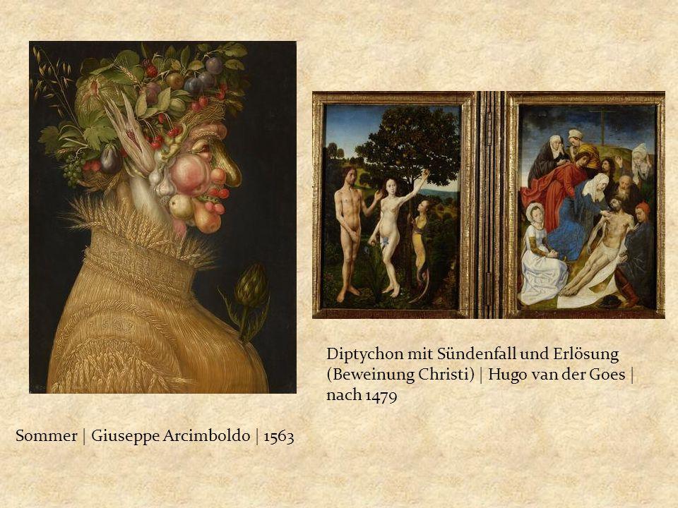 Diptychon mit Sündenfall und Erlösung (Beweinung Christi) | Hugo van der Goes | nach 1479