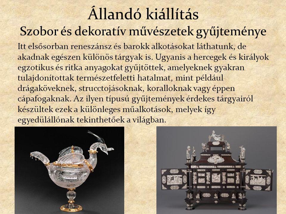 Állandó kiállítás Szobor és dekoratív művészetek gyűjteménye