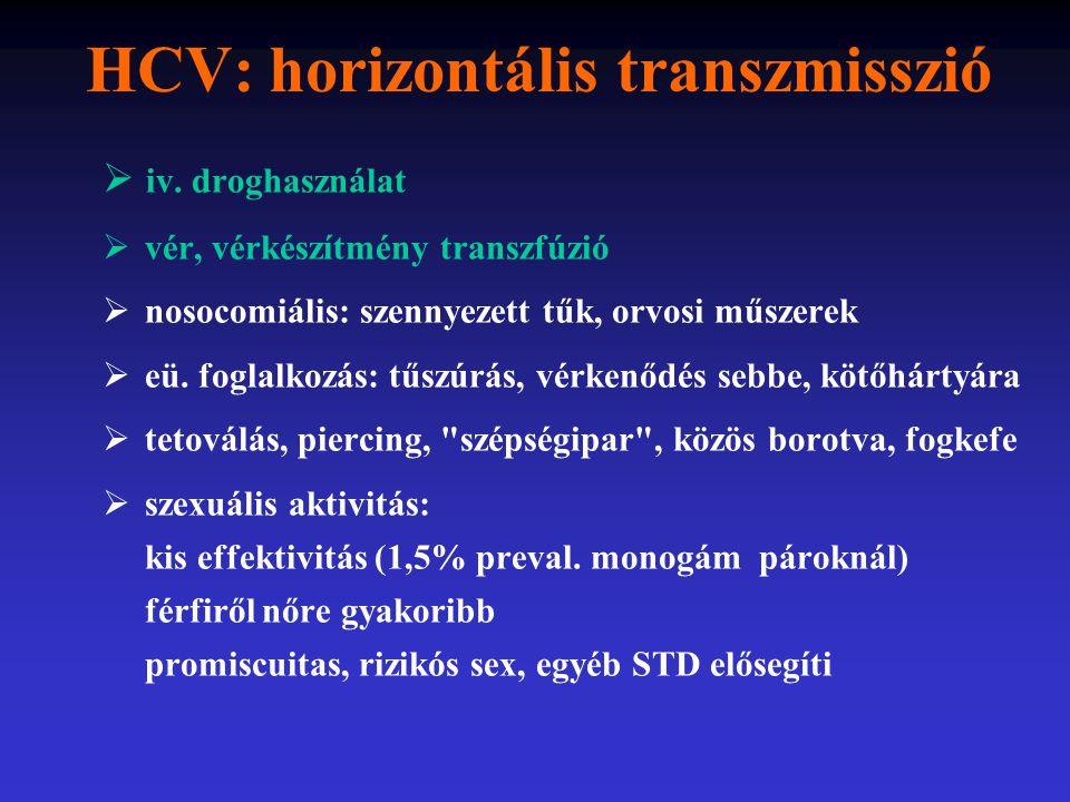 HCV: horizontális transzmisszió