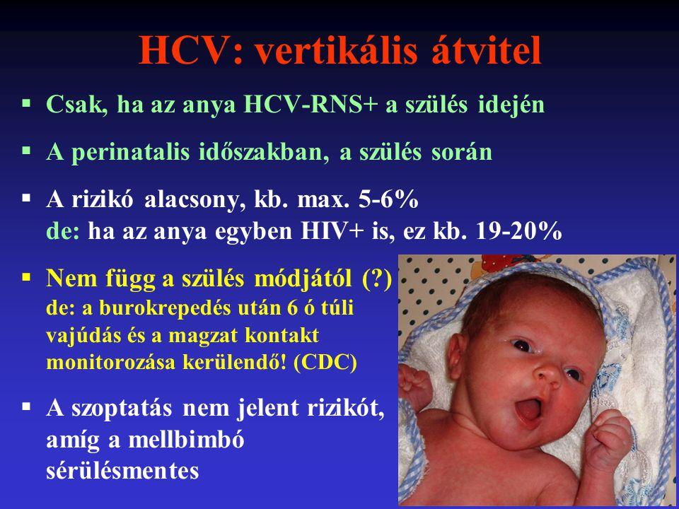 HCV: vertikális átvitel