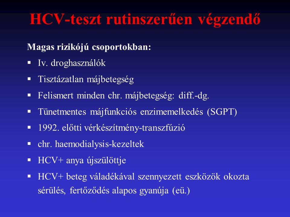 HCV-teszt rutinszerűen végzendő