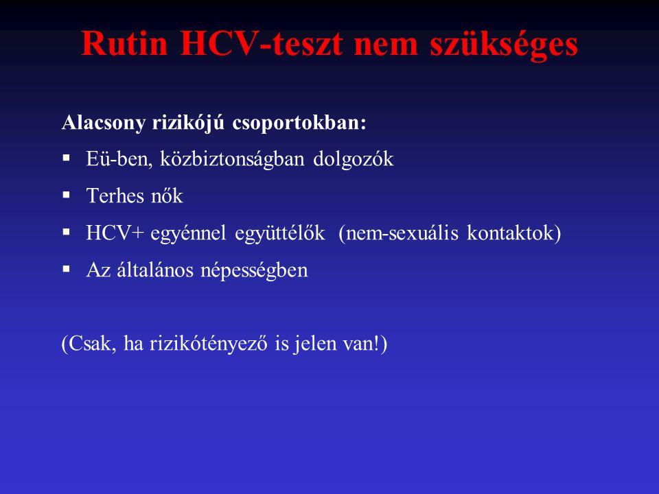 Rutin HCV-teszt nem szükséges
