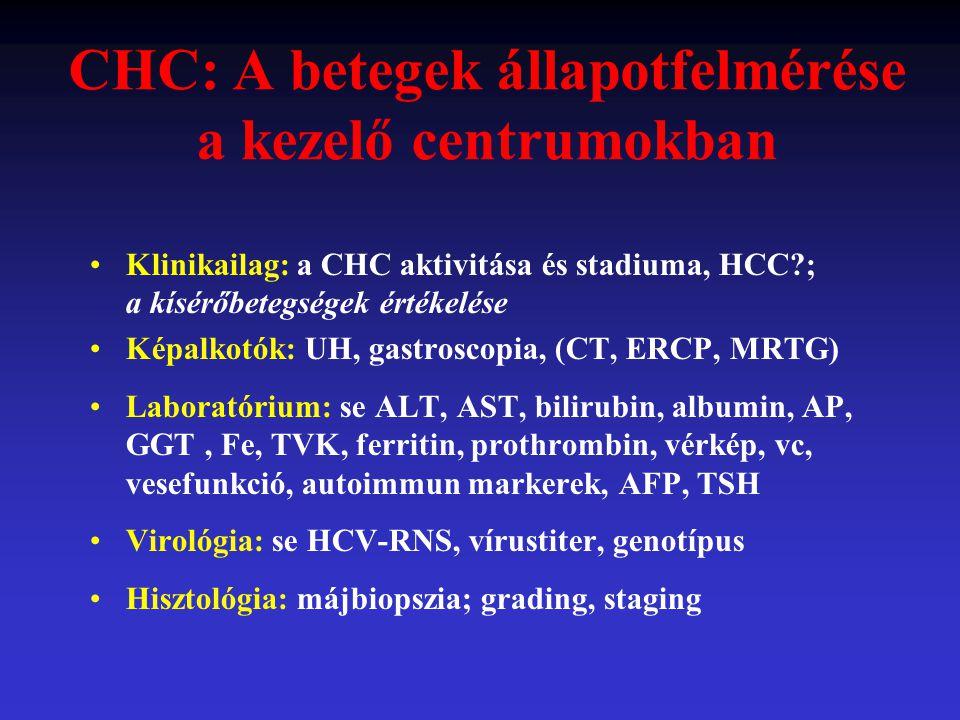 CHC: A betegek állapotfelmérése a kezelő centrumokban