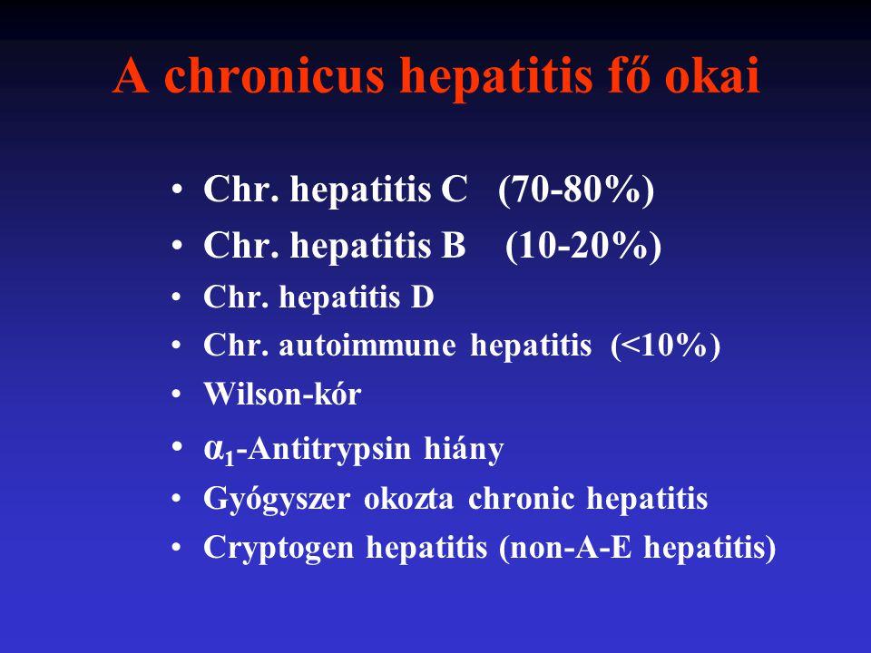 A chronicus hepatitis fő okai