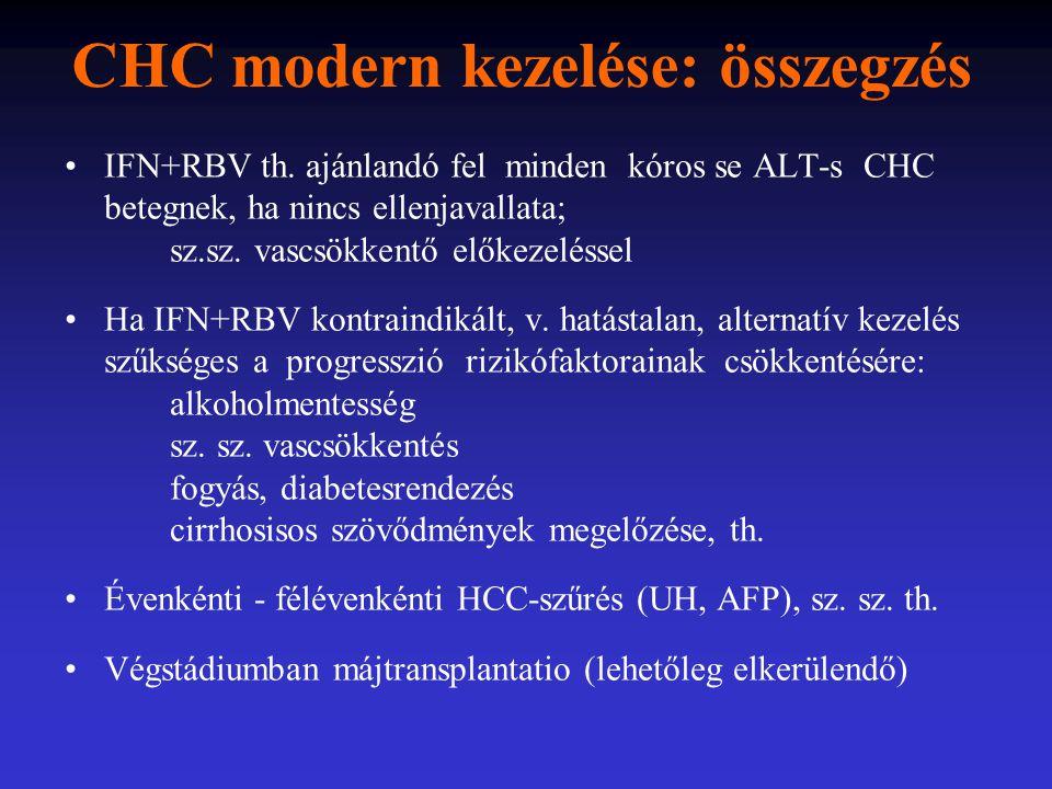 CHC modern kezelése: összegzés