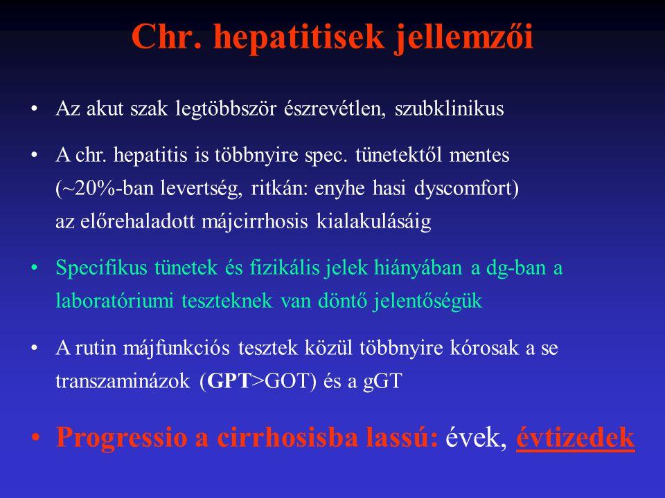 Chr. hepatitisek jellemzői