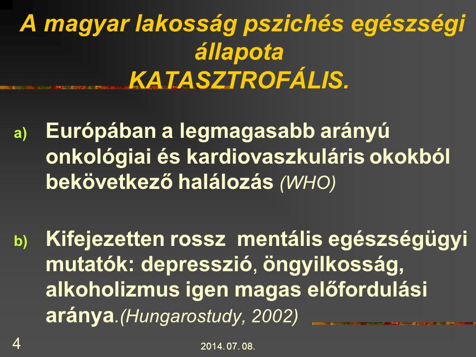 A magyar lakosság pszichés egészségi állapota KATASZTROFÁLIS.