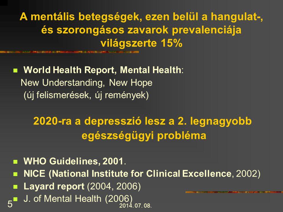 2020-ra a depresszió lesz a 2. legnagyobb egészségügyi probléma