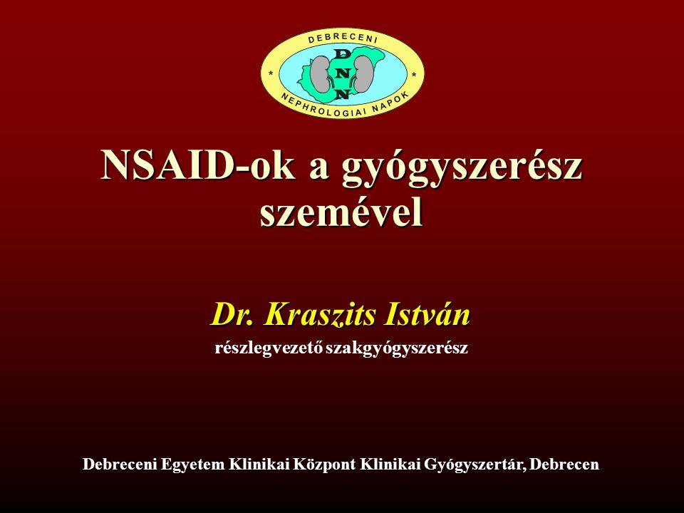 NSAID-ok a gyógyszerész szemével