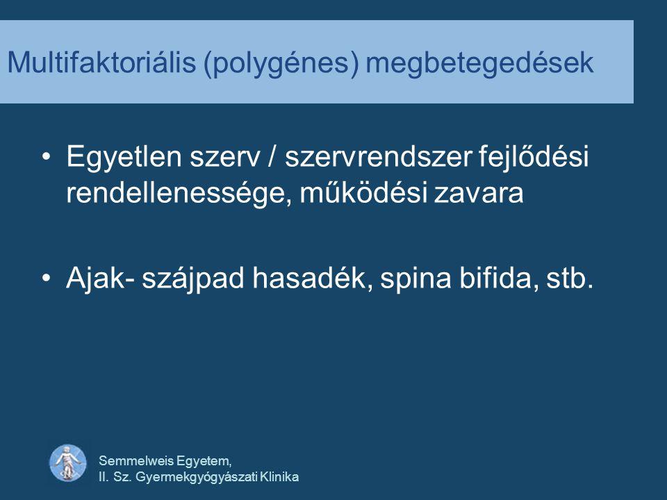 Multifaktoriális (polygénes) megbetegedések