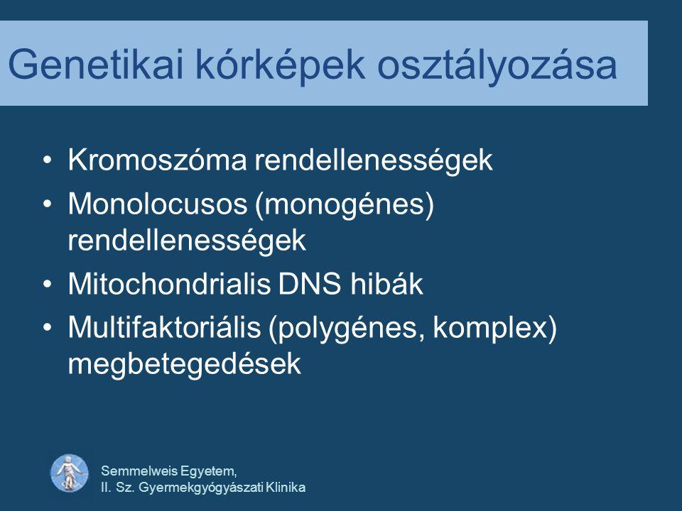 Genetikai kórképek osztályozása