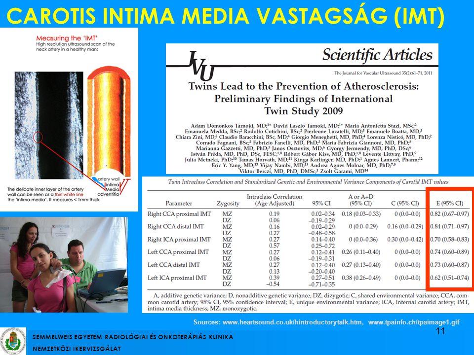 CAROTIS INTIMA MEDIA VASTAGSÁG (IMT)