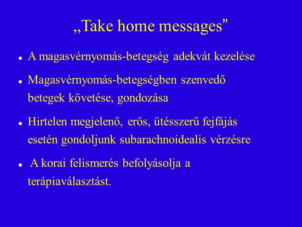 """""""Take home messages A magasvérnyomás-betegség adekvát kezelése"""