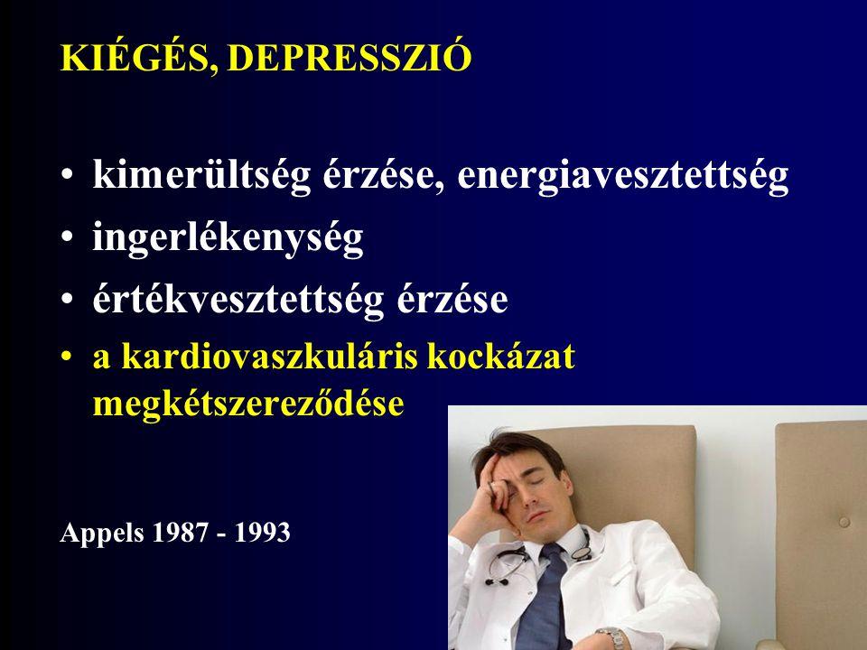 kimerültség érzése, energiavesztettség ingerlékenység