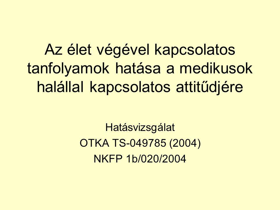 Hatásvizsgálat OTKA TS-049785 (2004) NKFP 1b/020/2004