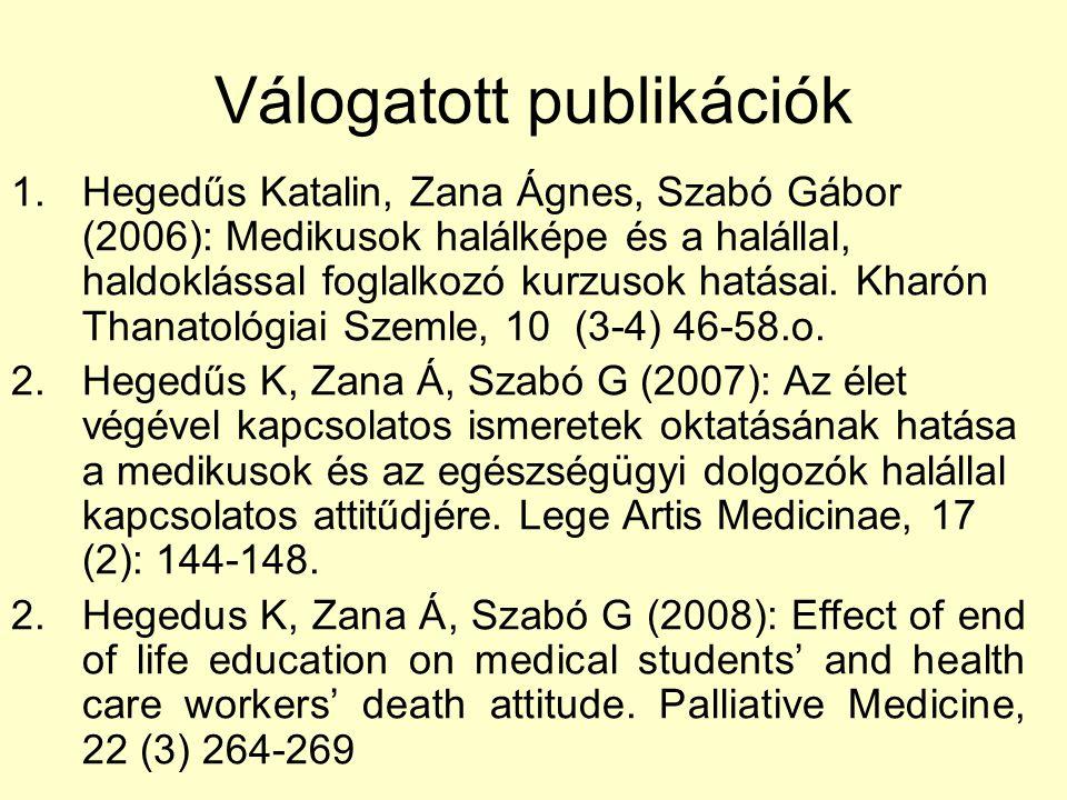 Válogatott publikációk