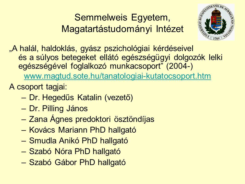 Semmelweis Egyetem, Magatartástudományi Intézet