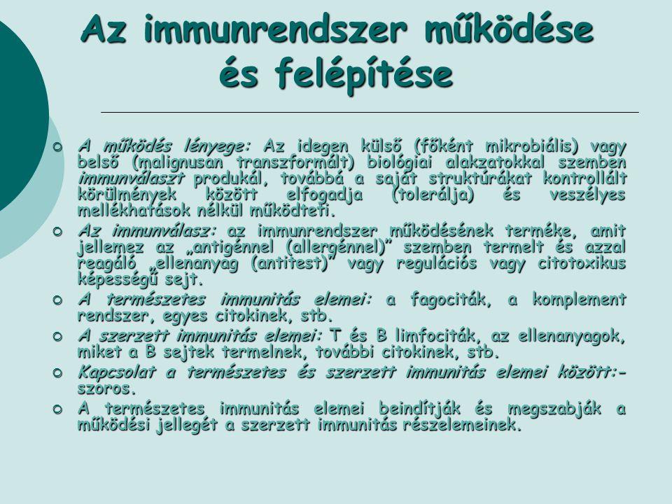 Az immunrendszer működése és felépítése