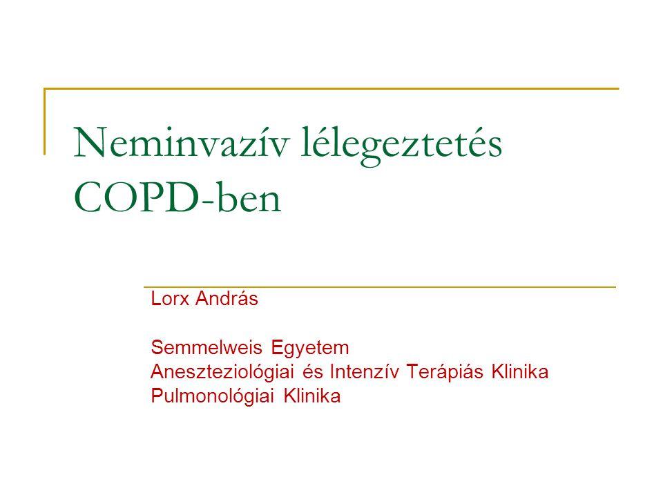 Neminvazív lélegeztetés COPD-ben
