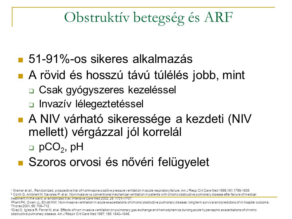 Obstruktív betegség és ARF