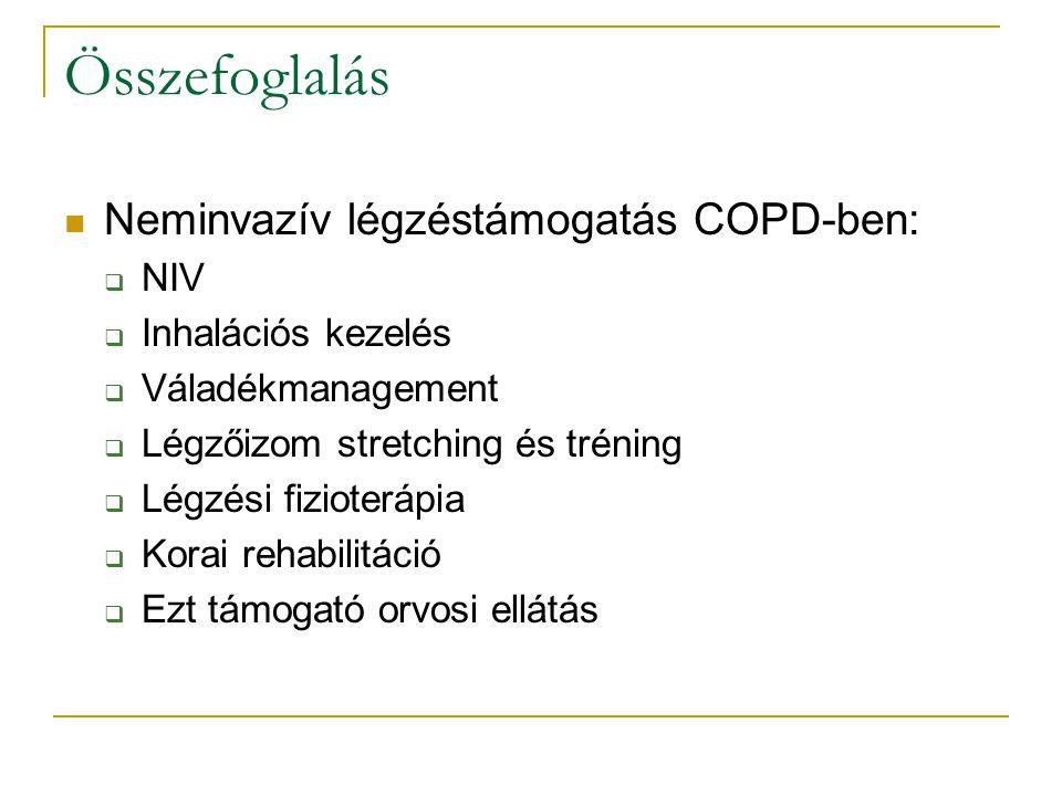 Összefoglalás Neminvazív légzéstámogatás COPD-ben: NIV