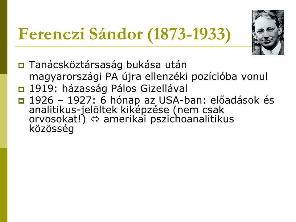 Ferenczi Sándor (1873-1933) Tanácsköztársaság bukása után