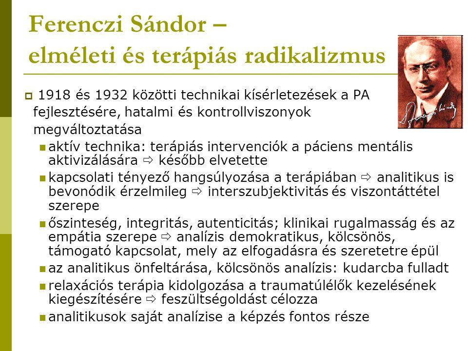Ferenczi Sándor – elméleti és terápiás radikalizmus
