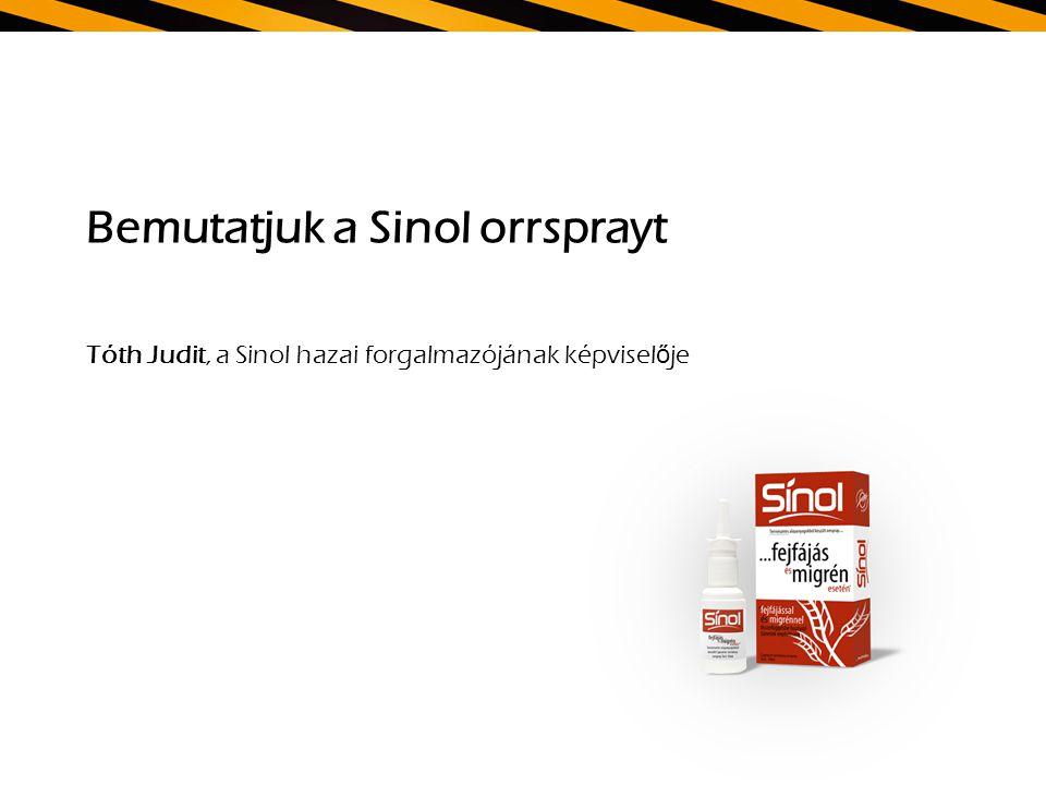 Bemutatjuk a Sinol orrsprayt Tóth Judit, a Sinol hazai forgalmazójának képviselője