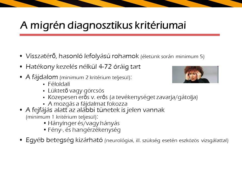 A migrén diagnosztikus kritériumai